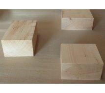 Bloc de Tilleul veine verte pour Sculpture - d'1 pièce (sans collage) - hauteur 20 cm
