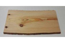 Planche de Cèdre rouge et odorant avec bord naturel - 1,5cm d'épaisseur