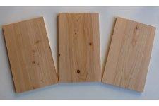 Planches en Cèdre ép 10mm (lot de 2) - largeur 14-17 cm